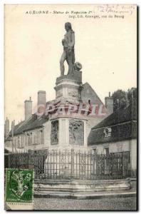 Old Postcard Auxonne Statue of Napoleon 1st