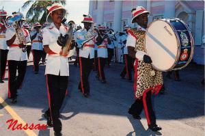 Nassau Bahamas Changing of the Guard Marching Band 1990 Postcard
