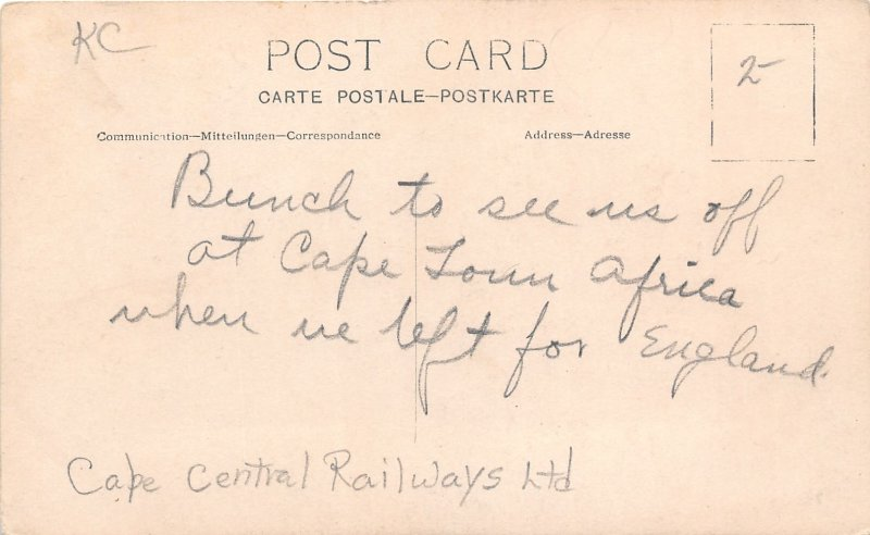 G58/ Cape Town South Africa Foreign RPPC Postcard Railway Station