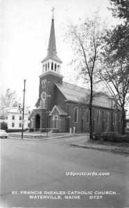 St Francis Desales Catholic Church Waterville ME Unused
