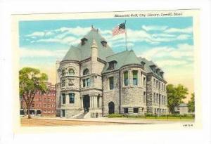 Memorial Hall, City Library, Lowell, Massachusetts, 1910s