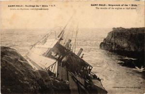 CPA St- Malo - Naufrage du Hilda - Débris des Machines vurs a (298315)