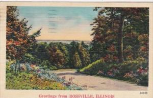Illinois Greetings From Rossville 1941