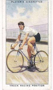 Cigarette Cards Players CYCLING No 48 Track Racing Position