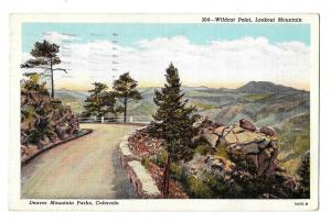 CO Denver Mountain Parks Lookout Mountain Wildcat Point Vintage Postcard