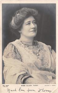 Miss Ellen Terry~English Stage Actress~Famous as Lady MacBeth~1904 RPPC