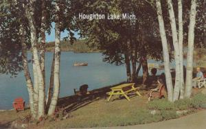Waterfront View, Canoeing on Houghton Lake, White Birch Trees, Northland Mich...