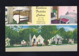FREDERICK MARYLAND BARBARA FRITCHIE CABINS MOTEL INTERIOR VINTAGE POSTCARD