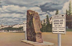 Colorado Markers At The Summit Of Berthoud Pass Curteich