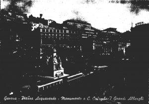 Italy Genova Piazza Acquaverde Christopher Columbus Statue