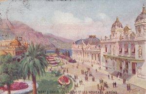 MONTE CARLO , PU-1915 ; TUCK ; Le Casino et les Nouveaux Jardins