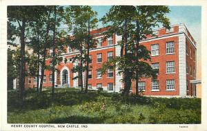 Henry County Hospital New Castle Indiana IN 1944 White Border