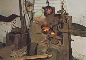 Blacksmith Shoe Chain Bell Maker Ironmonger Vintage Craft Crafts Postcard