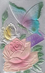 Embossed Butterfly & Silk Rose , 00-10s