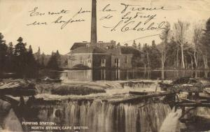 canada, NORTH SYDNEY, N.S., Cape Breton, Pumping Station (1920s)