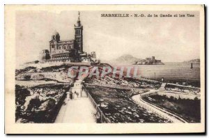 Postcard Old Marseille N D of the Guard and the Islands