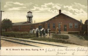 Epping NH WC Brown's Box Shop c1910 Postcard