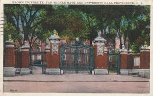 Van Wickle Gate - Brown University, Providence RI, Rhode Island - pm 1937 - WB