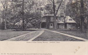 Connecticut Hartford Home Of Chas Dudley Warner