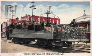 Seeing Montreal By Observation Car, Montreal, Canada, 1930 Postcard, Used