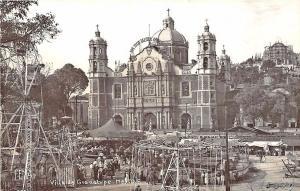 Villa de Guadalupe Mexico Ferris Wheel Carousel SEE Mesage RPPC Postcard