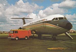 Loading Mail Onto British Caledonian Jet Gatwick Airport Postcard