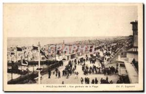 Old Postcard Malo les Bains General View of the Beach