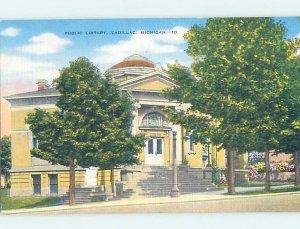 Linen LIBRARY SCENE Cadillac - Near Grayling & Traverse City Michigan MI AF1583