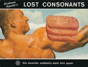Graham Rawle's Lost Consonants - Humor - Pun - Muscle Spam