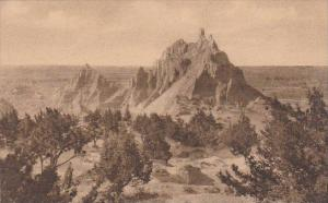 Vampire Peak At Cedar Pass Badlands Nat Monument South Dakota Albertype