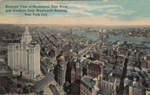 New York City , 1915 ; Bird's Eye of Manhatten