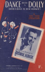 Dance With A Dolly 1940s George Elrick Small Sheet Music