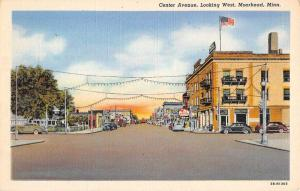 Moorhead Minnesota Center Ave Street Scene Store Fronts Antique Postcard K43368