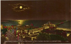 Essex Postcard - The Pier, Southend-On-Sea Illuminations  RS22814