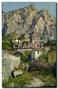 Old Postcard Menton La Frontiere Franco Italian