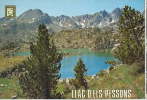 Valls d'Andorra, Llac d'Els Pessons, unused Postcard
