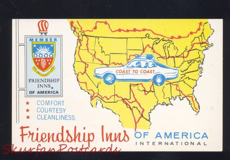Gallup New Mexico Route 66 Friendshipp In Map Vintage Advertising