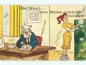 Pre-1980 Risque Comic SEXY GIRL SECRETARY NOTICED BY THE BOSS AB6929