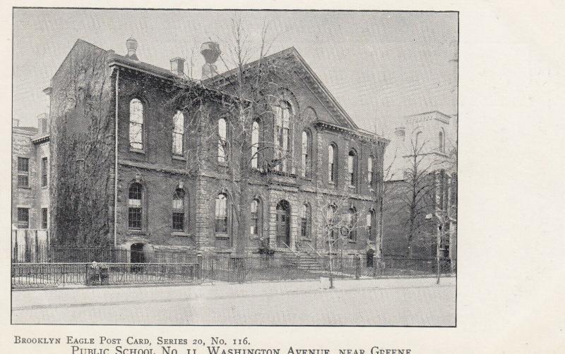 BROOKLYN, NYC, 1901-07; Public School No. 11, Washington Avenue near Greene