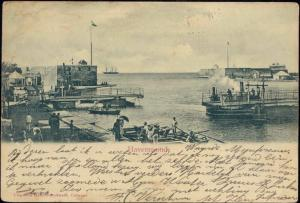 curacao, D.W.I., WILLEMSTAD, Havenmond (1903)