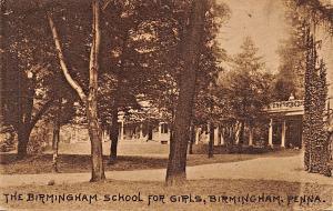 BIRMINGHAM PENNSYLVANIA~SCHOOL FOR GIRLS PHOTO POSTCARD 1910s