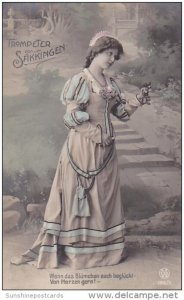 Trompeter von Saekkingen Beautiful German Girl Real Photo