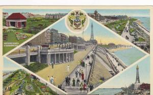 5-Views of BLACKPOOL,  Lancashire, England, United Kingdom, PU-1953
