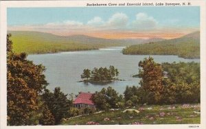 Burkehaven Cove And Emerald Island Lake Sunapee New Hampshire 1958