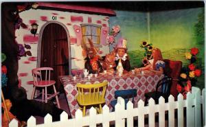 SAN JUAN CAPISTRANO, CA  MISSION WAX MUSEUM Alice in Wonderland c1960s  Postcard
