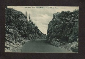 ME Cut Orr's Orrs Island Bridge Harpswell MAINE Postcard