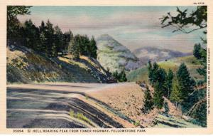 YELLOWSTONE NATIONAL PARK.  Haynes Linen Series. 35694.