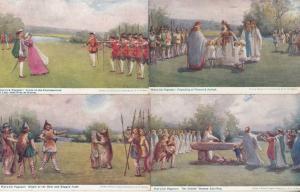 Warwick Pageant Guys Trophy Kings Visit Roger De Newburgh School 4x Postcard s