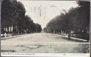 Carthage MO - tree lined GARRISON AVENUE 1900s