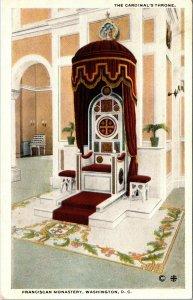 The Cardinal's Throne Franciscan Monastery Washington D.C. Postcard